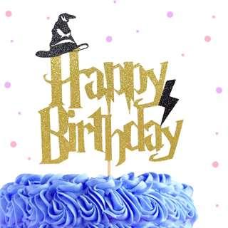 Harry Potter Birthday Cake Topper, Custom Birthday Cake Topper, Wizard