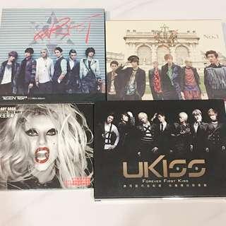 🚚 韓國歐美二手專輯 Teentop/Ukiss/Lady Gaga