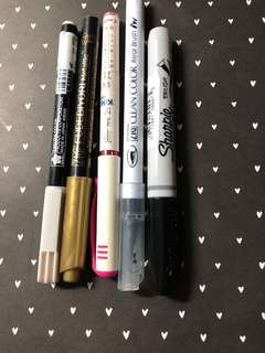 BN and used brush markers