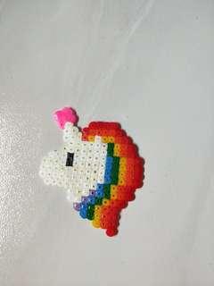 Rainbow Unicorn Perler Beads
