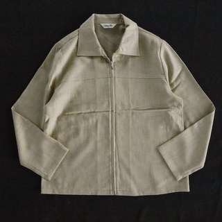 🚚 🌴90s卡其色復古薄款復古夾克 日本老外套 女款Vintage 日本帶回古著
