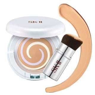 SK-II colour beauty crystal skin perfecting compact & brush set (CASE ONLY)