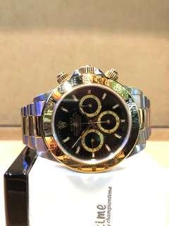"Authentic Rolex Oyster Daytona 16523 ""Zenith"" Black Dial Automatic Steel Casing Bracelet"