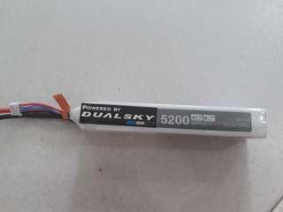 Dualsky 5200mah 3s 11.1v lipo battery