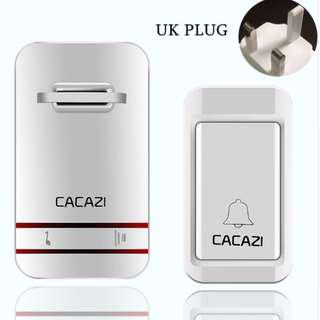 ★FREE DELIVERY★SG EDITION★[GENUINE]★CACAZI Self-Powered Batteryless Wireless Doorbell