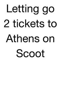 2 flight tickets to Athens