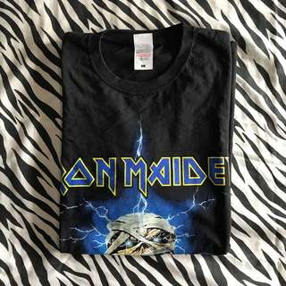 Iron maiden powerslave mummy tshirt size l fruit of the loom