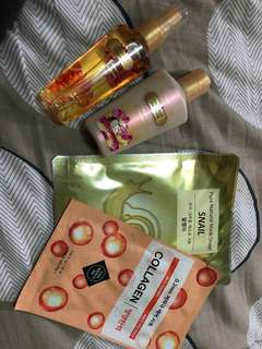 Bundle (VS lotion and perfume with collagen and snail mask)