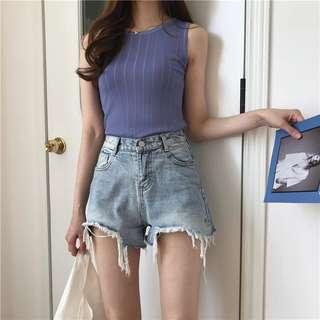 🚚 韓版高腰牛仔褲