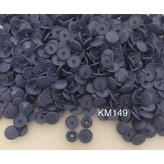 KM149SMOKE BLUE: T5(12mm) Snap Button, 50 set(200pcs)