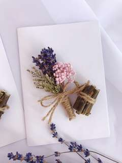 Lavender card/ dried flower card/ gift card/ greeting card