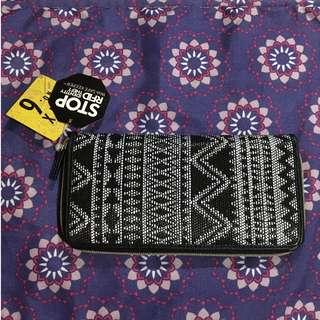 Woven Tribal print  Long Wallet