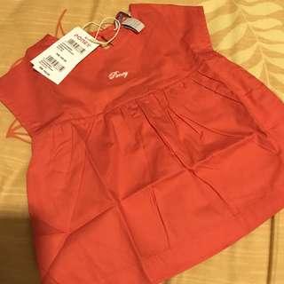 PONEY Sleeveless Blouse in Red/Orange