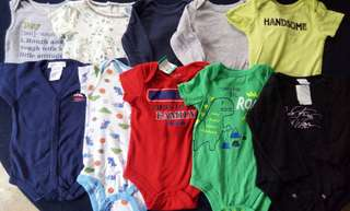 Set A preloved baby boy clothes onesies 9-12 months