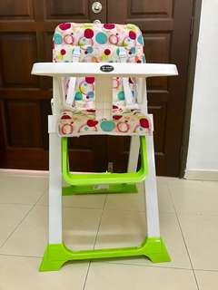 My Dear Foldable High Chair with Removable Tray