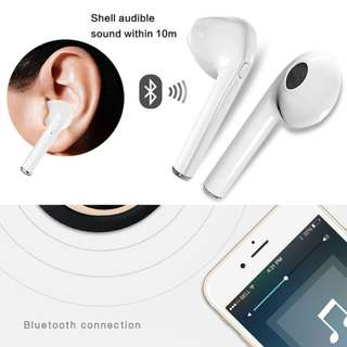 Headset Bluetooth i7 Handsfree Eardphone Wireless
