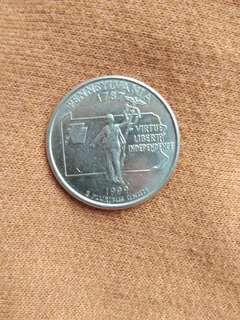 Commemorative Quarter doller Pennsylvania