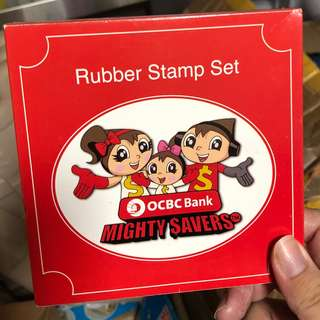OCBC Mighty Savers - Rubber Stamps Set