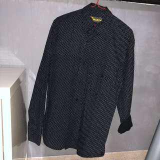 Black White Polka Dot Shirt