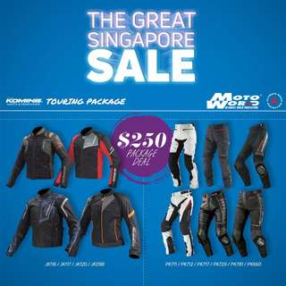 Komine Riding Jacket and Pants Bundle