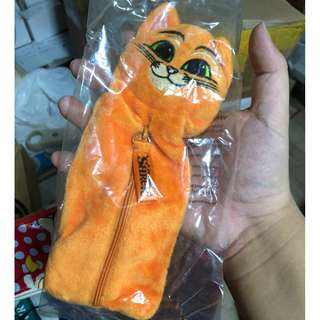 Puss-in-Boots Cotton Pencil Case