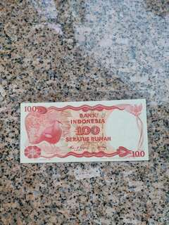 84年印尼100勞比,unc