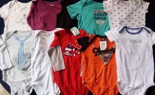 Set B preloved baby boy clothes onesies 9-12 months
