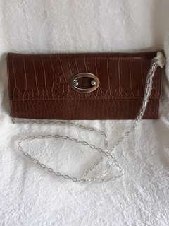 Fashion two way sling and clucth bag