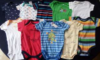 Set A preloved baby boy clothes onesies 3-6 months