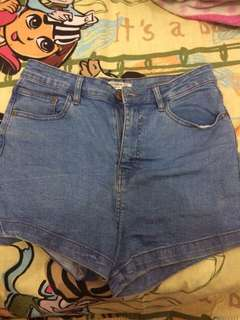 high waist short pants