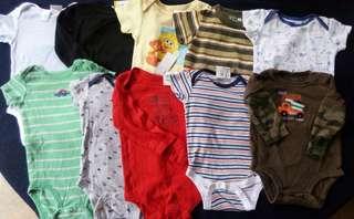 Set B preloved baby boy clothes onesies 6-9 months