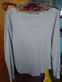 White Stripe long Sleeves