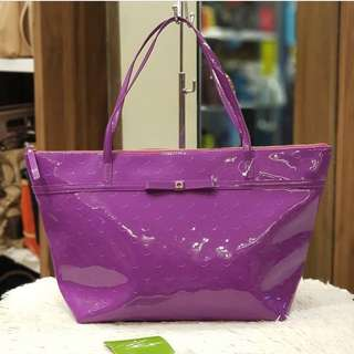 Brand New Kate Spade Patent Tote Bag Purple ❤️BIG SALE P7800 ONLY❤️ With tag & card Swipe for detailed pics