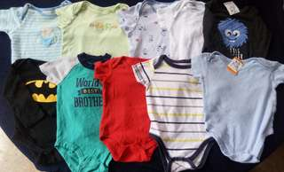 Set A preloved baby boy clothes onesies 6-9 months