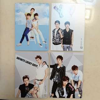 INFINITE第一代Collection Card 團體set