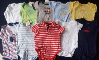 Set B preloved baby boy clothes onesies 3-6 months
