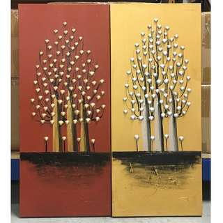 Painting - Trees Of Prosperity B (2 in 1-Tall) Clearance stock