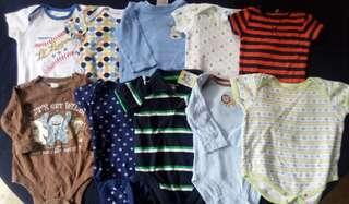 Set C preloved baby boy clothes onesies 3-6 months