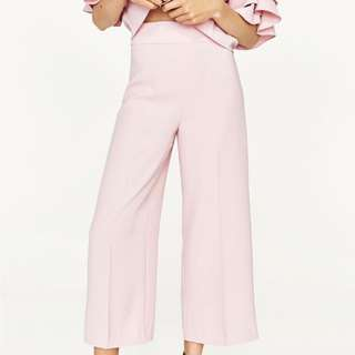 Zara Pink High-Waisted Trousers