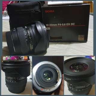 Sigma 10-20mm F4-5.6 EX DC Canon Mount