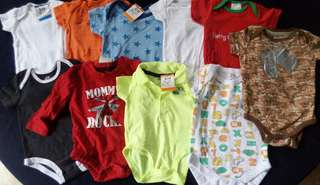 Set A preloved baby boy clothes onesies nb-3 months
