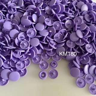KM160DELPHINIUM: Matte T5(12mm) Snap Button, 50 set(200pcs)