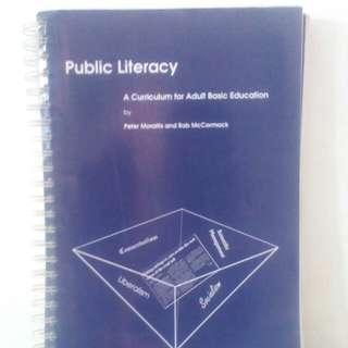 Buku Public Literacy , A Curriculum For Adult Basic Education