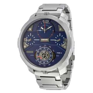 MACHINUS CHRONOGRAPH FOUR TIME ZONE DIAL STAINLESS STEEL MEN'S WATCH DZ7361