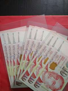 Singapore S10 Solid 111111 to 1000000