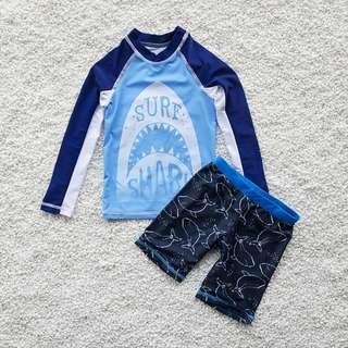 夏季泳裝 / 男童泳衣 鯊魚印花男童防曬泳裝