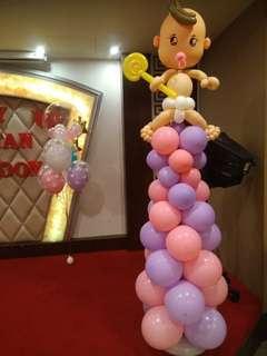 Babys full moon Balloons daco