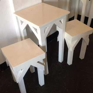 Wood TABLE + 2 CHAIRS