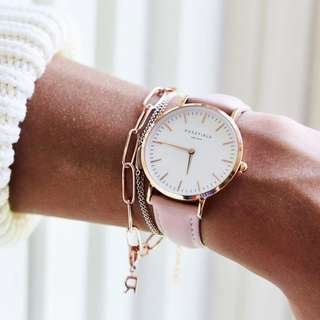 全新行貨 設有門市 Rosefield the bowery white pink rose gold watch 手錶