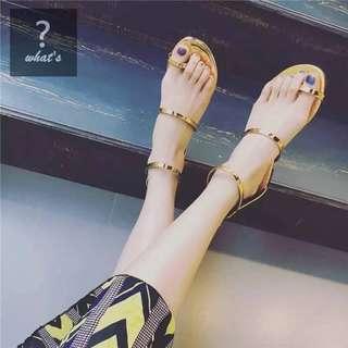 🚚 Korea 👡 時尚鏡面極美羅馬簡約涼鞋